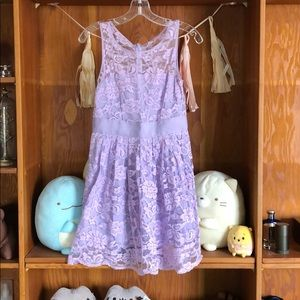 BB Dakota Lace Lilac Dress